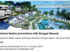 Exclusive festive promotions with Nongsa Resorts