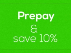 Get 10% off when you prepay your booking upfront!