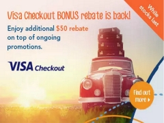 Get SGD50 Off on Top of Ongoing Promotion on Zuji with Visa Checkout