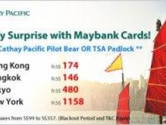 Cathay Pacific Getaway Surprise with Maybank Cards