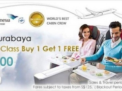 Garuda Indonesia Business Class Buy 1 Get 1 Free Offers!