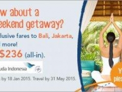 Weekend getaway with exclusive fares to Bali, Jakarta and more!