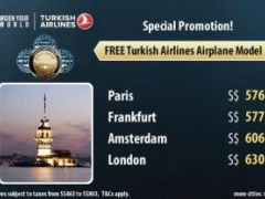 Turkish Airlines Special Promotion! Free Turkish Airlines Airplane Model