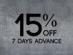 Book your trip in advance (7 days or more) and Save 15%!