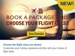 Book a Package & Choose Your Flight Class