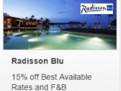 Radisson Blu - 15% off Best Available Rates and F&B with an OCBC Credit/ Debit Card