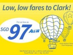 Fly from Singapore to Clark for as low as SGD 97!