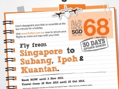 Fly from Singapore to Subang, Ipoh & Kuantan from $68.