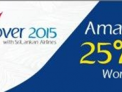 Discover 2015 with SriLankan Airlines Amazing 25% OFF Worldwide*