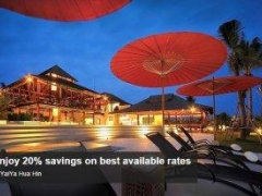 Enjoy 20% savings on best available rates at YaiYa Hua Hin