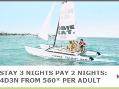 Stay 3 Nights Pay 2 Nights: 4D3N from 560* per Adult