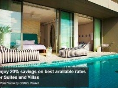 Enjoy 20% savings on best available rates for Suites and Villas at Point Yamu by COMO, Phuket