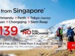 Fly direct from Singapore to Kathmandu, Perth, Tokyo & more from SGD 139! Now with no fuel surcharge!