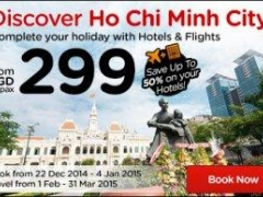 Discover Ho Chi Minh City! Complete your holiday with Hotels & Flights from SGD 299 /pax