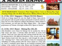 5 Days 4 Nights X'mas and New Year in Hanoi