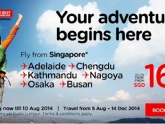 You adventure begins here. Fly from Singapore8 to Adelaide, Chengdu, Busan and many more destionations from $166.