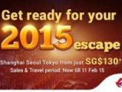 Get ready for your 2015 escape! Shanghai Seoul & Tokyo from just SG$130 via China Eastern Airways