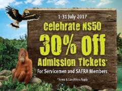 SAF Day Promotion | Enjoy 30% Off Admission Tickets to Wildlife Reserves Singapore Park