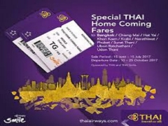 Thai Home Coming Special Fare from SGD220 with Thai Airways