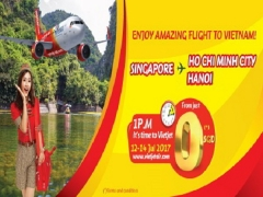 Fly to Vietnam from SGD $0 with Vietjet Air