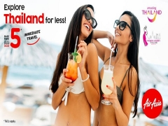 Explore Thailand and More Destination for Less with Flights on AirAsia from SGD5