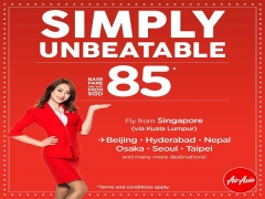 Simply Unbeatable Fares from SGD85 to Japan, Korea, China and More with AirAsia