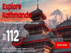 Explore Kathmandu from SGD 112 with AirAsia