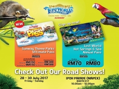 Sunway Lost World of Tambun and Other Attraction Passes from RM70 at Mapex Ipoh Parade