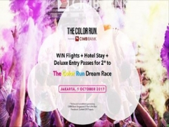 WIN Flight + Hotel Stay and more with CIMB The Color Run Facebook Contest