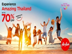 Enjoy up to 70% off flights to Thailand* on Flights with AirAsia