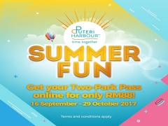 Summer Fun Two-Park Pass from RM88 in Puteri Harbour