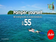 Fly to Kota Kinabalu and Discover Sabah with AirAsia from SGD55