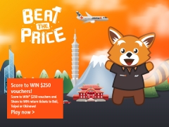 Beat the Price and WIN Flights to Bali, Taipei or Okinawa from Jetstar