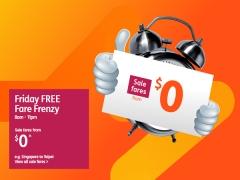 Friday FREE Fare Frenzy in Jetstar