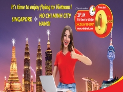 Enjoy Flying to Vietnam from SGD$0 with Vietjet