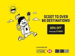 Scoot to Over 60 Destinations at 20% Off with HSBC Card
