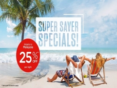 Super Saver Specials with 25% Off in Tune Hotels in Malaysia