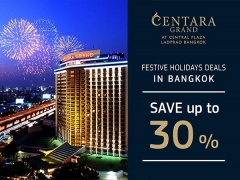 Save Up to 30% on your Stay in Centara Grand at Central Plaza Bangkok