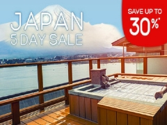 Japan 5 Day Sale with Up to 30% Savings on Accommodation in Hotels.com