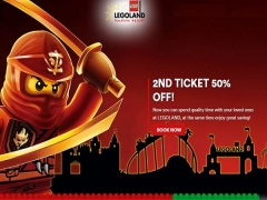 2nd Ticket at 50% Off for your Fun Getaway in Legoland Malaysia