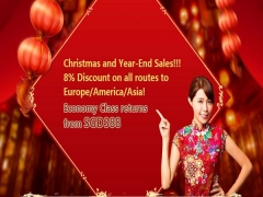 Christmas and Year-End Promotion in Air China with 8% Discount on Selected Flights
