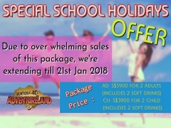 Special School Holidays Offer in Sentosa 4D AdventureLand