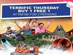 Terrific Thursday: Buy 1 FREE 1 Offer in Sunway Lagoon