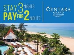 Stay 3 Night, Pay for only 2 in Centara Grand Beach Resort Phuket