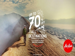 Up to 70% off All Destinations when you Fly with AirAsia