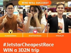 #JetstarCheapestRace Contest : WIN a 3D2N Trip* for Two from Jetstar
