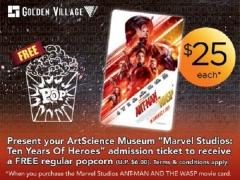 ArtScience Museum and Golden Village Promotion