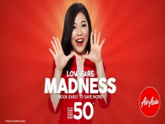Low Fares Madness in AirAsia with Flights from SGD50