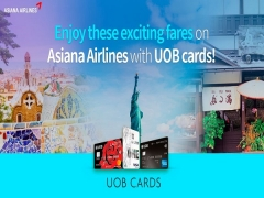 Enjoy these Exciting Fares on Asiana Airlines with UOB Cards