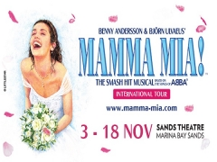 NTUC Exclusive - Watch MAMMA MIA at Marina Bay Sands at 15% Off